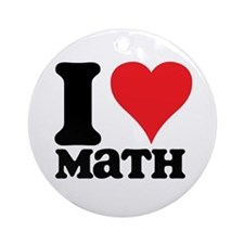 I Love Math Ornament (Round)