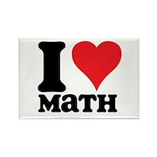 I Love Math Rectangle Magnet (100 pack)