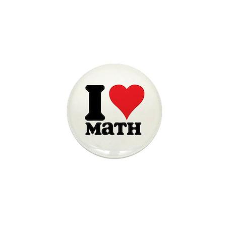 I Love Math Mini Button (10 pack)
