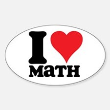 I Love Math Oval Decal