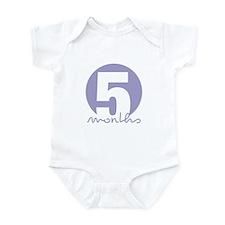 5 Month Identifier Infant Bodysuit