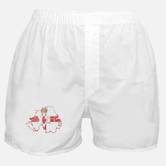 Northern Ireland Flag And Map Boxer Shorts