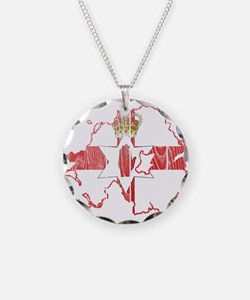 Northern Ireland Flag And Map Necklace