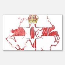 Northern Ireland Flag And Map Decal