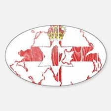 Northern Ireland Flag And Map Sticker (Oval)