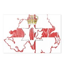 Northern Ireland Flag And Map Postcards (Package o