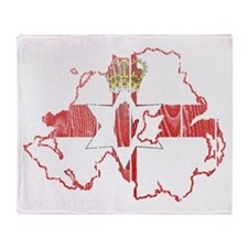Northern Ireland Flag And Map Throw Blanket