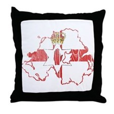 Northern Ireland Flag And Map Throw Pillow