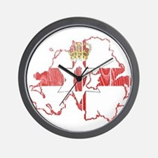 Northern Ireland Flag And Map Wall Clock