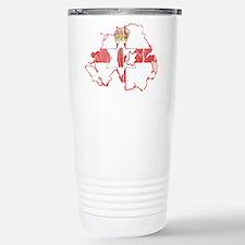 Northern Ireland Flag And Map Travel Mug