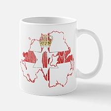 Northern Ireland Flag And Map Mug