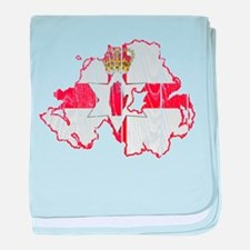 Northern Ireland Flag And Map baby blanket