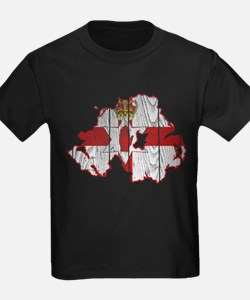Northern Ireland Flag And Map T