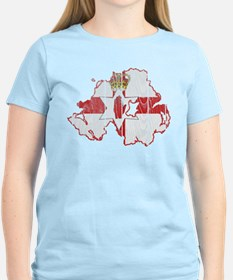 Northern Ireland Flag And Map T-Shirt