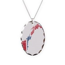 Norway Flag And Map Necklace