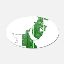 Pakistan Flag And Map Wall Decal