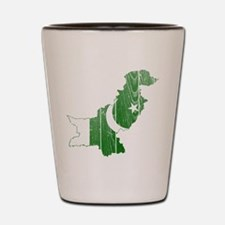 Pakistan Flag And Map Shot Glass