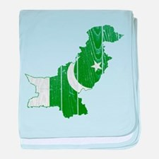 Pakistan Flag And Map baby blanket