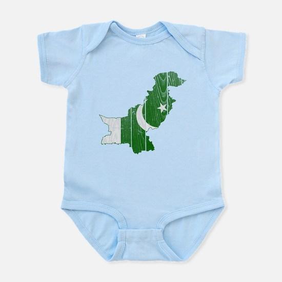 Pakistan Flag And Map Infant Bodysuit