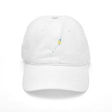 Palau Flag And Map Baseball Cap