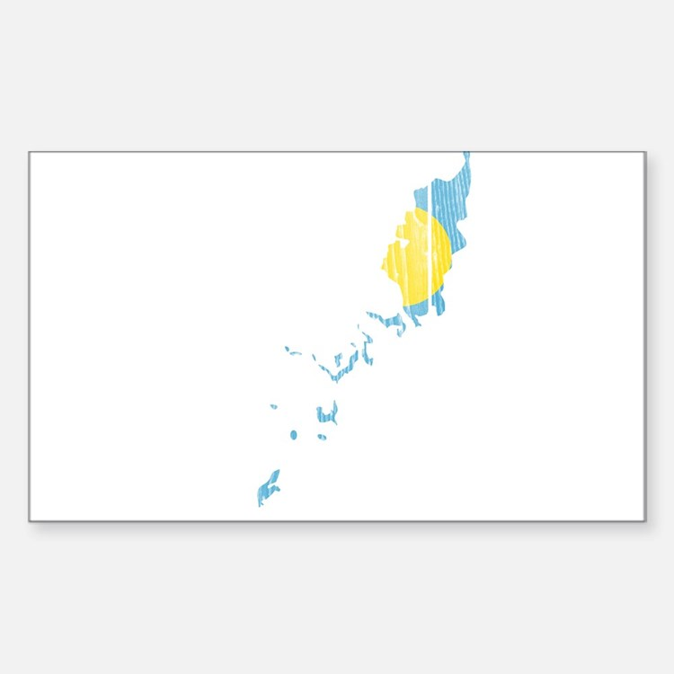 Palau Flag And Map Decal