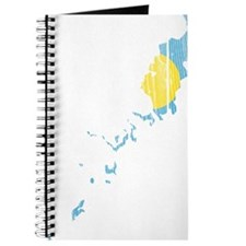 Palau Flag And Map Journal