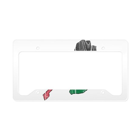 Palestine Flag And Map License Plate Holder
