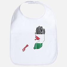 Palestine Flag And Map Bib