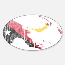 Papua New Guinea Flag And Map Decal