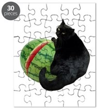 Cat with Watermelon Puzzle