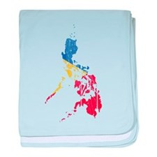 Philippines Flag And Map baby blanket