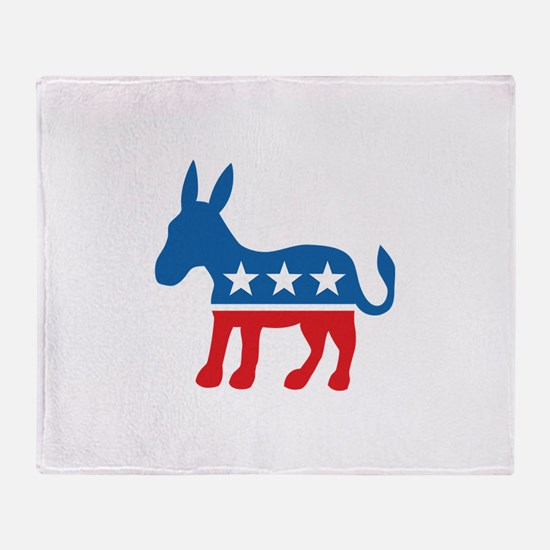 Democratic Donkey Democrat Throw Blanket