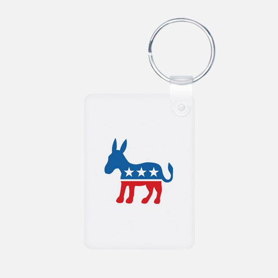 Democratic Donkey Democrat Aluminum Photo Keychain
