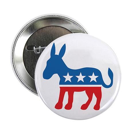 "Democratic Donkey Democrat 2.25"" Button"