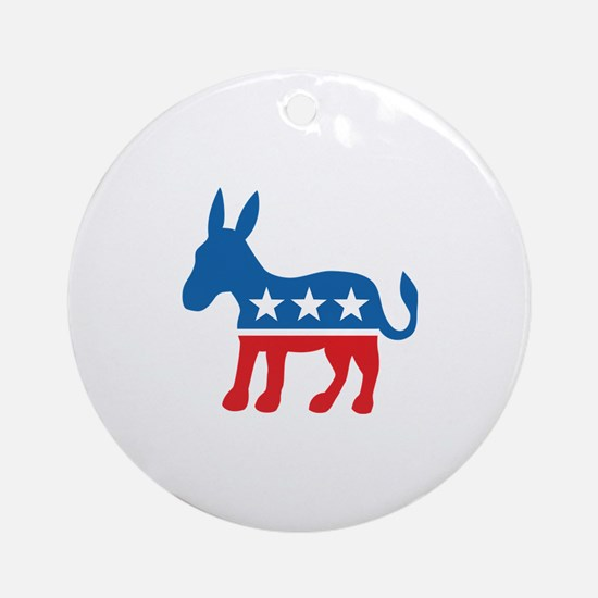 Democratic Donkey Democrat Ornament (Round)
