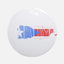 Puerto Rico Flag And Map Ornament (Round)