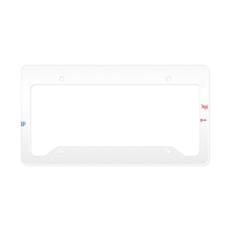 Puerto Rico Flag And Map License Plate Holder