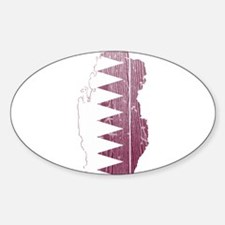 Qatar Flag And Map Decal