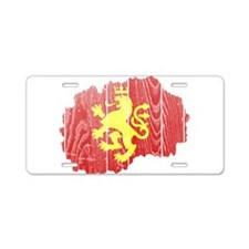 Macedonia Lion Flag And Map Aluminum License Plate