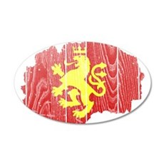 Macedonia Lion Flag And Map Wall Decal