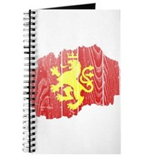 Macedonia Lion Flag And Map Journal