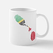 Saint Kitts And Nevis Flag And Map Mug
