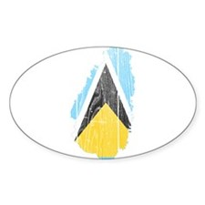 Saint Lucia Flag And Map Decal
