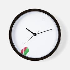 Sao Tome And Principe Flag And Map Wall Clock