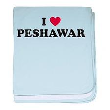 I Love Peshawar baby blanket