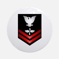 Navy PO2 Aviation Machinist's Mate Ornament (Round