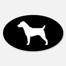 Jack Russell Sticker (Oval)