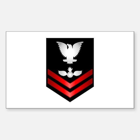 Navy PO2 Aviation Ordnanceman Sticker (Rectangle)