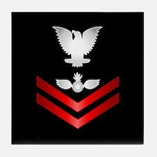 Navy PO2 Aviation Ordnanceman Tile Coaster