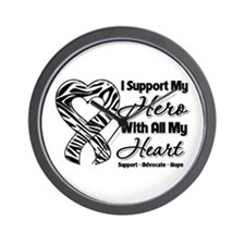 Support Hero Carcinoid Cancer Wall Clock